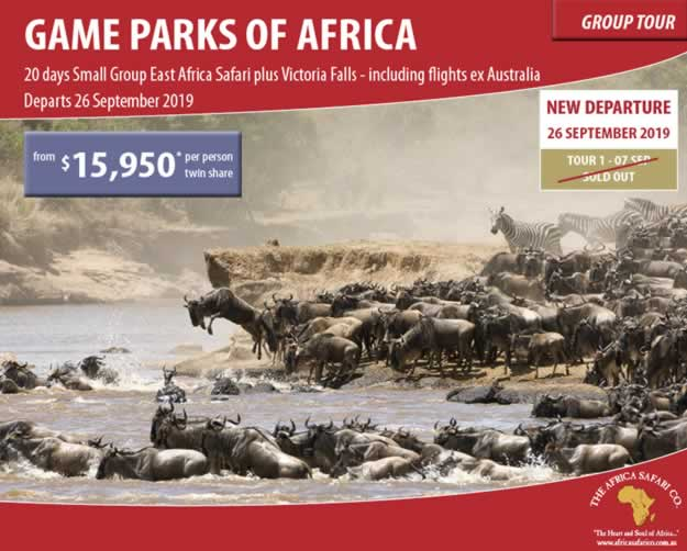 Game Parks of Africa 2019