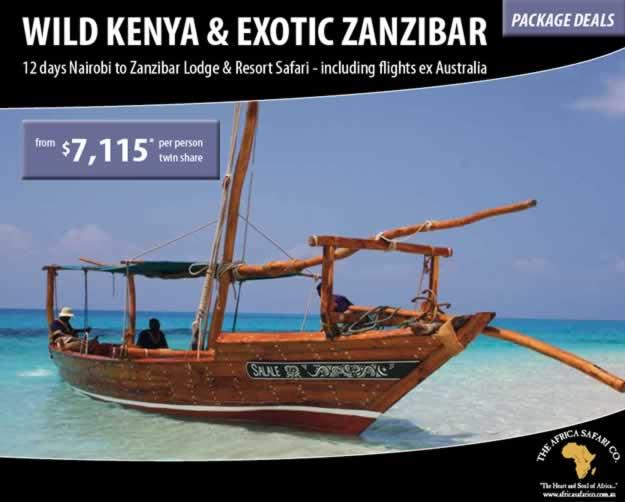 Wild Kenya and Exotic Zanzibar