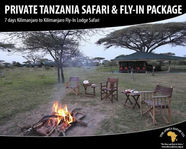 Private Tanzania Safari & Fly-In Package