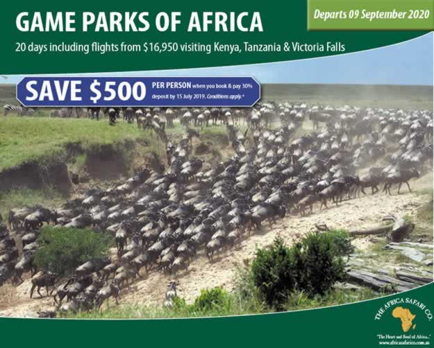 Game Parks of Africa 2020