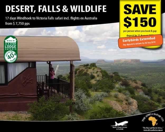 Desert, Falls and Wildlife