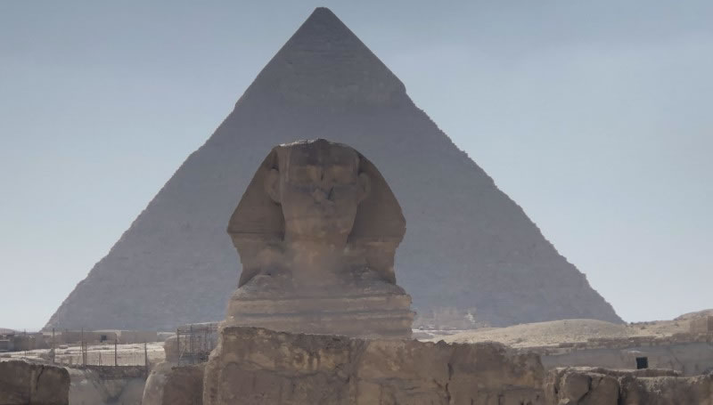 Sphinx & Great Pyramid