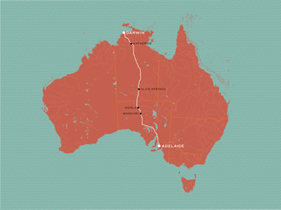 The Ghan Map