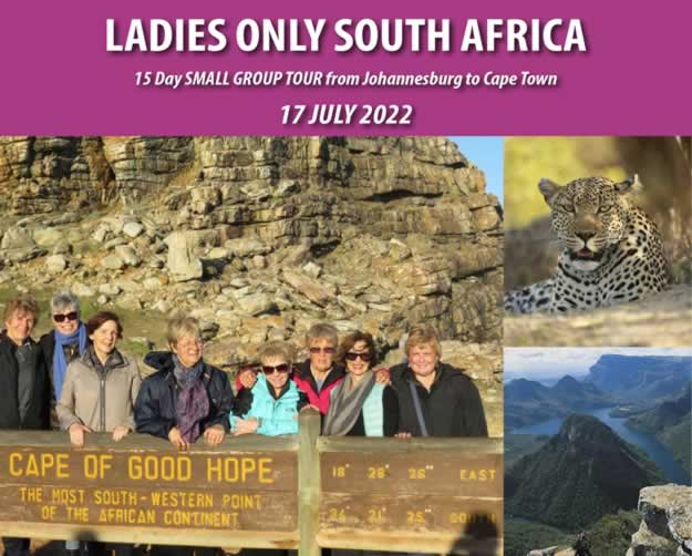 Ladies Only Exclusive Tour to South Africa
