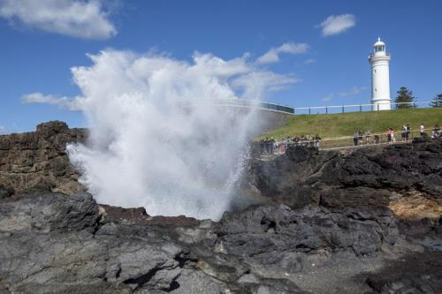 The Blowhole and lighthouse in Kiama.<br>Credit: Destination NSW