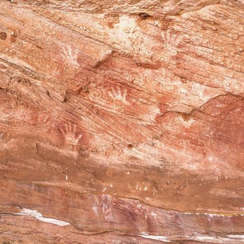 Aboriginal rock art in Mutawintji National Park.<br>Credit: Destination NSW