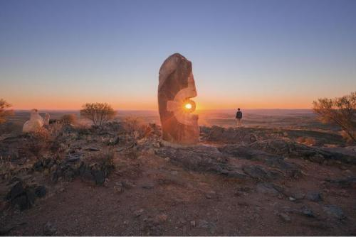 Sunset from The Living Desert Reserve in Broken Hill.<br>Credit: Destination NSW
