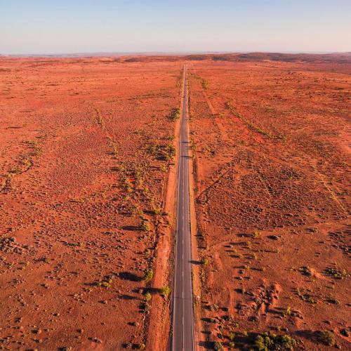 Long stretch of road in the outback near Broken Hill.<br>Credit: Destination NSW