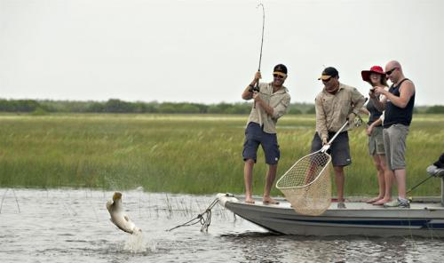 Barramundi Fishing Bamurru Plains<br>Photo: Shaana McNaught