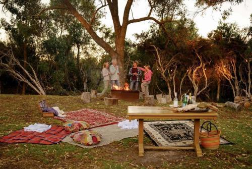 Esperance Chalet Village campfire