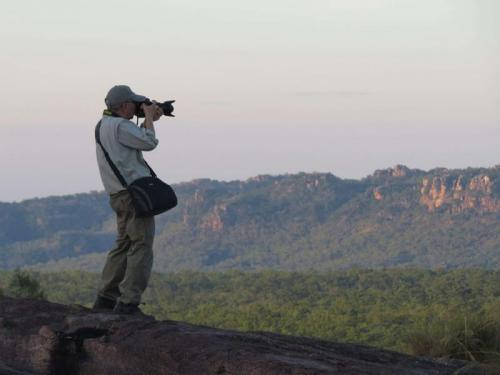 Photographer in Kakadu<br>Credit: Luke Paterson, NT Bird Specialists