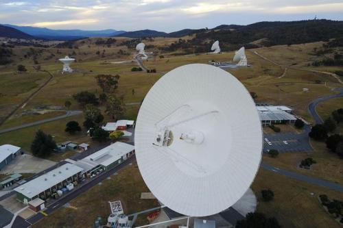 Aerial shot - Tidbinbilla Deep Space Tracking Station